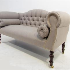 Light Grey Chesterfield Sofa Chocolate Plush Microfiber Fabric Upholstered Futon Bed With Metal Legs Antique Style In Hall
