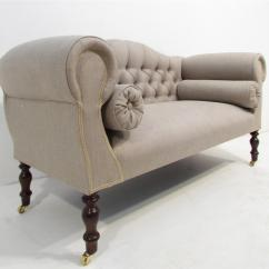 Light Grey Chesterfield Sofa Leather Upholstery Manchester Antique Style Upholstered In Hall