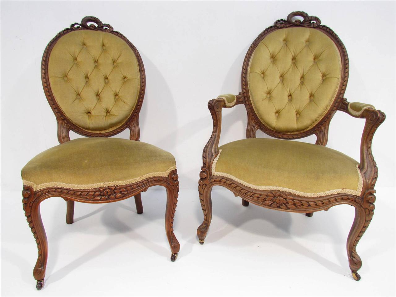 vintage bedroom chair ebay aeron office review a beautiful pair of antique french oak chairs c 1920