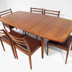 Retro Dining Room Table And Chairs Couch Chair Set A Good Teak Six By G Plan Ebay