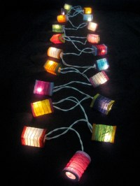 20 COLOURFUL Mini Chinese LED String Paper Lanterns Lights ...