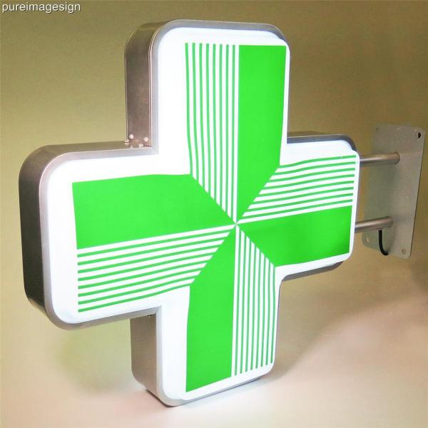 Led Sign Pharmacy Projecting Light Box Outdoor Green