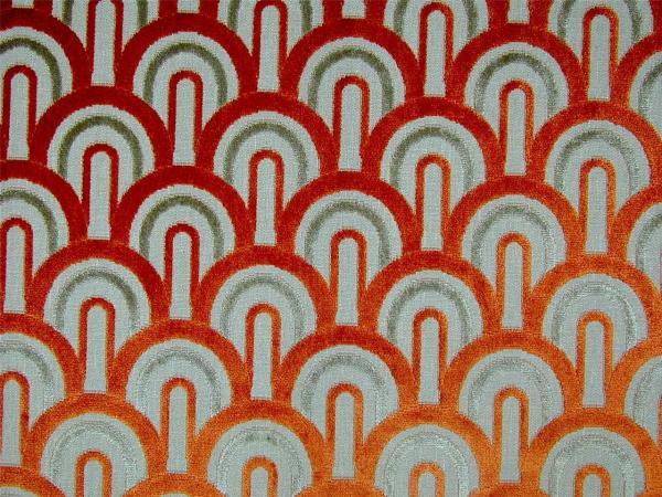 Art Deco Cut Velvet Upholstery Fabric