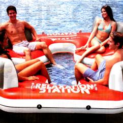Floating Chair For Lake How Do You Cane A Intex Inflatable Island Outdoor Lounge Pool