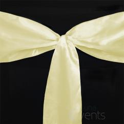 Chair Covers With Gold Sash Nautical Cushions 30 X Satin Sashes Cover Bows Sheer Wedding Event