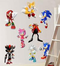 Sonic Hedgehog 8 Characters Decal Removable Wall Sticker ...