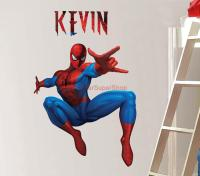 Personalized Spiderman Decal Removable Wall Sticker Home ...
