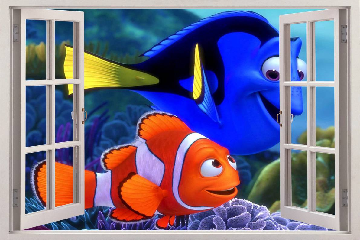 Finding Nemo 3D Window View Decal Wall Sticker Home Decor
