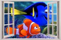 Finding Nemo 3D Window View Decal Wall Sticker Home Decor ...