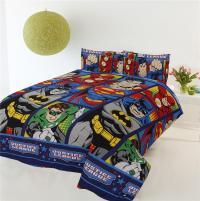 Justice League Batman Superman Single Size Kids BED Quilt ...