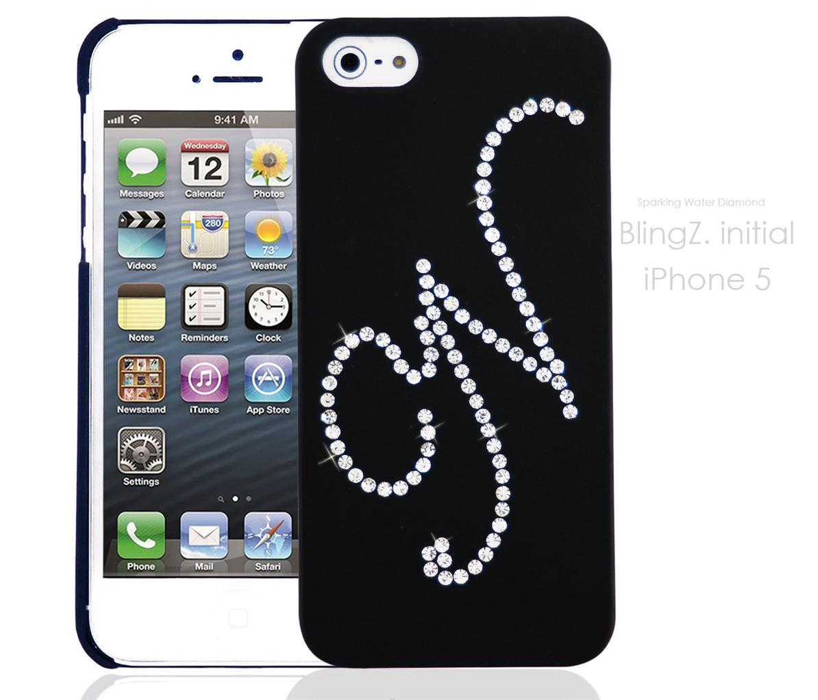 INITIAL LETTER BLING BLING DIAMANTE NEW PHONE CASE COVER DESIGN IPHONE 5 5G 5S  eBay