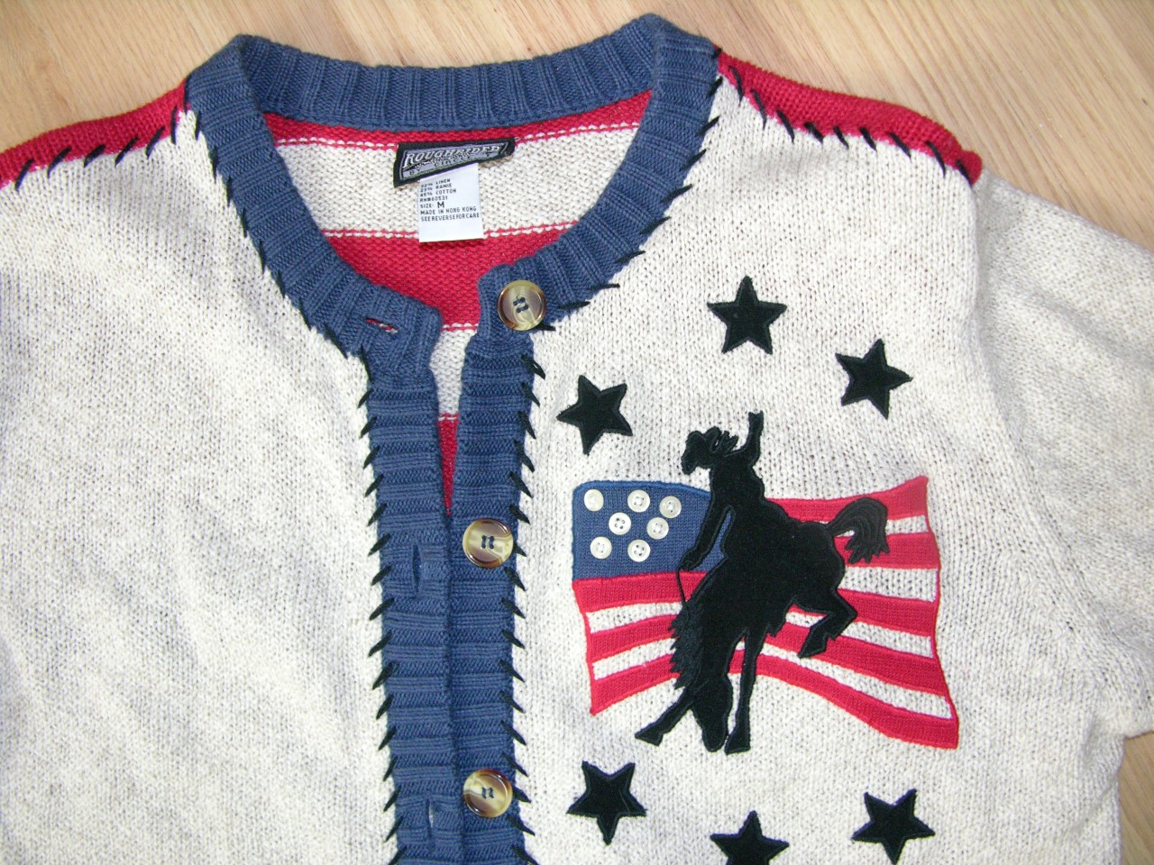 "WOMEN WESTERN SWEATER SIZE MED ""ROUGHRIDER BRAND"""