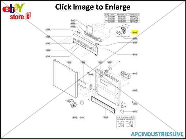 GENUINE LG DISHWASHER LATCH AND HANDLE KIT ASSY PART