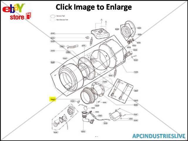 GENUINE LG WASHING MACHINE DOOR GASKET PART # 4986ER1005C