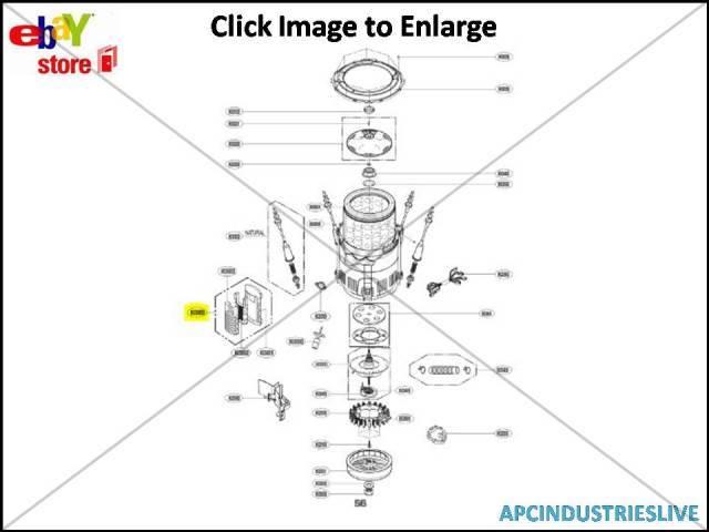 3 X GENUINE LG WASHING MACHINE LINT FILTER PART