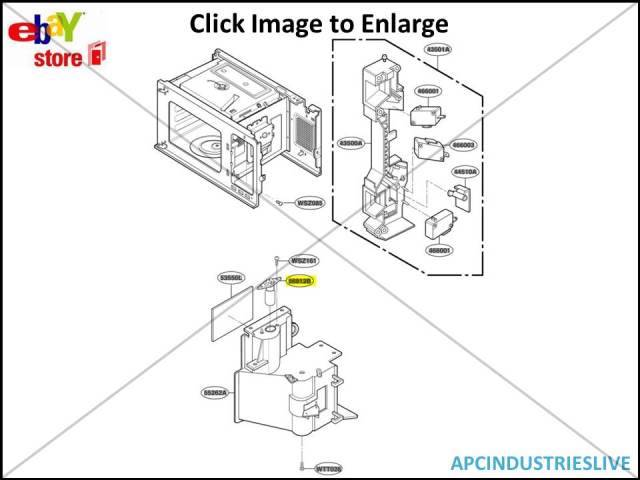 GENUINE LG SMEG OMEGA MICROWAVE LIGHT GLOBE PART