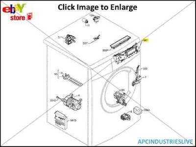 GENUINE ELECTROLUX WASHING MACHINE MAIN BOARD ASSEMBLY