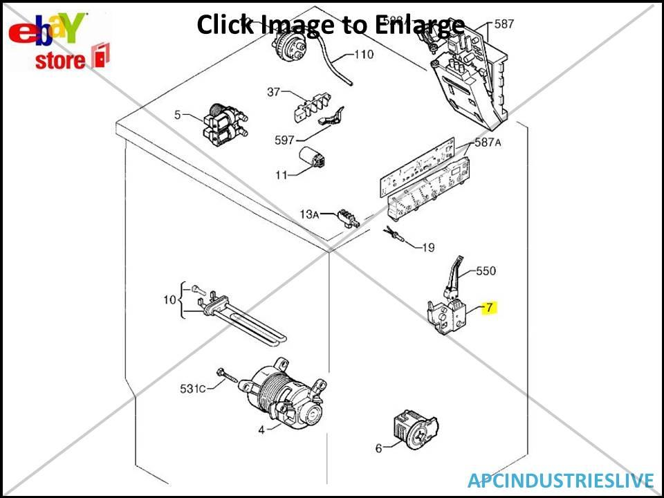 ELECTROLUX WASHING MACHINE FRONT LOADER DOOR INTERLOCK