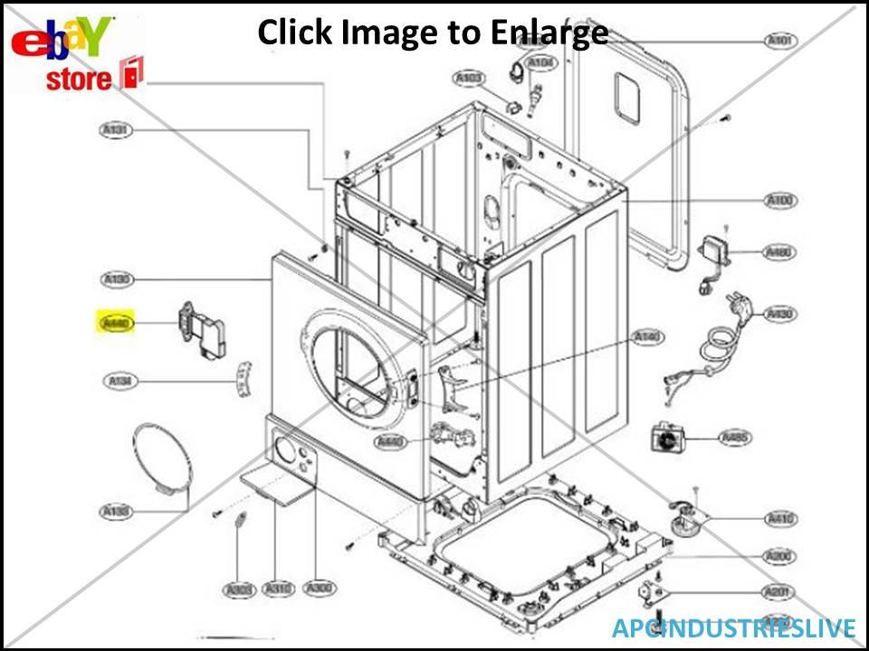 GENUINE LG WASHING MACHINE DOOR INTERLOCK SWITCH