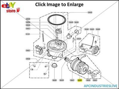 GENUINE LG DISHWASHER WASH PUMP MOTOR PART # 5859DD9001A