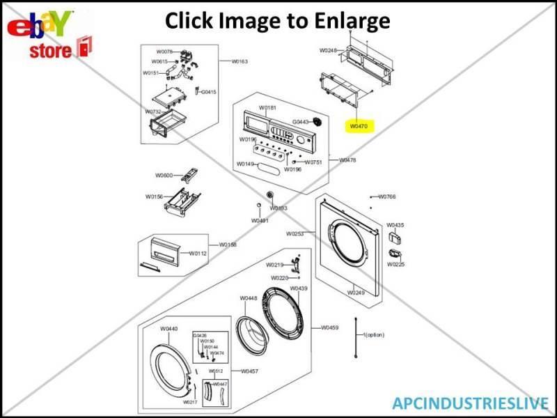 GENUINE SAMSUNG WASHING MACHINE MAIN PCB ASSY PART # DC92