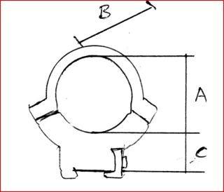 Warne 721M 9-11.5mm 3 8 Scope Rings for 28-42mm Lens Scopes