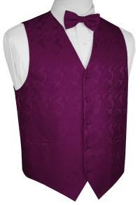 Men's Paisley Formal Tuxedo Vest and Bow-Tie. Wedding ...