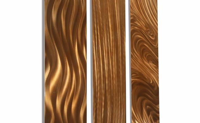 Contemporary Copper Metal Home Decor Abstract Wall Art