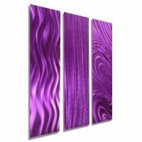 Modern Purple Art Abstract Metal Wall Decor - Purple ...