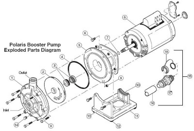 Polaris Booster Pump PB4-60 Impeller P15 P-15, Seal O