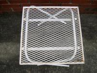 Vintage Folding Mesh Top Metal Side End Patio Table Mid ...