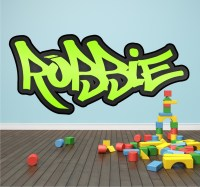 Personalised Graffiti Name Wall Sticker Mural Art Boys ...