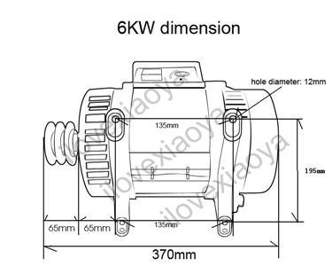 Single Phase Alternator Permanent Magnet Generator 4/6/8