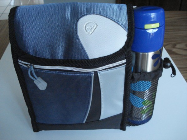 Igloo Insulated Lunch Bag Cooler Tote With Ss Thermos Nwot Blue Gray & Black