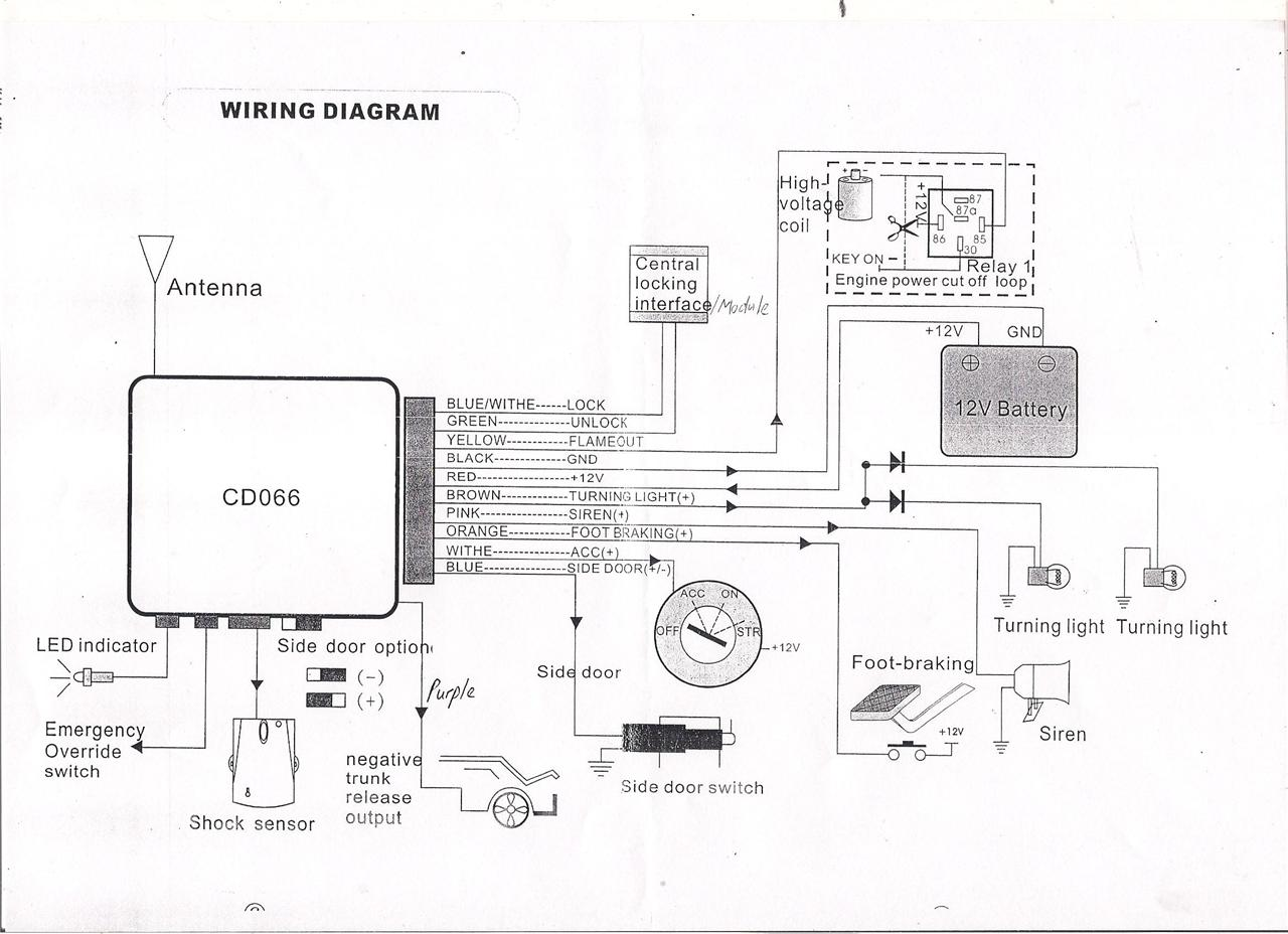 alarm circuit diagram honda odyssey atv wiring car installation diagrams t100 get free
