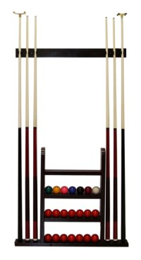POOL CUE RACK & BALL RACK *WOODEN* WALL MOUNTED !NEW! | eBay