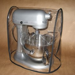 Kitchen Aid Stand Mixer Cover Garbage Cans For Clear Fits Kitchenaid 6 Qt W Black Trim Ebay
