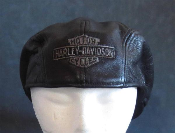 Cool Vintage Harley Davidson Men' Genuine Leather Ivy Hat
