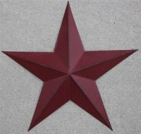 "New Americana Metal Star 24"" Country Wall Decor Rustic Red ..."