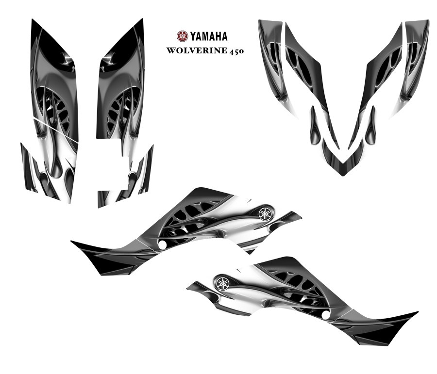 YAMAHA Wolverine 450 ATV Graphic Decal Sticker Kit