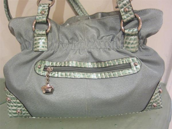 Kathy Van Zeeland Nwt Green Crown Princess Handbag Purse