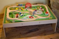 Wooden SERVICES TRAIN SET & TABLE Brio ELC Compatible | eBay