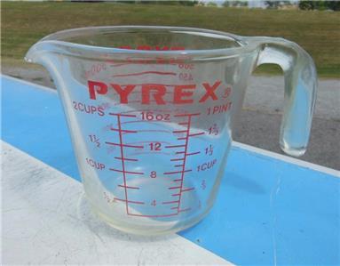 PYREX CORNING 516 2 CUP MEASURING CUP GLASS 16 OZ 1 PINT