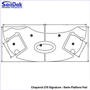 SeaDek Swim Platform Pads for Chaparral Models (Choose
