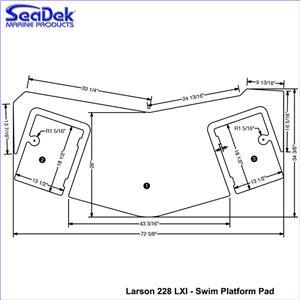 SeaDek Swim Platform Pads for Larson Models (Choose Model