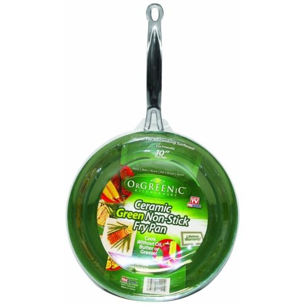 Orgreenic Frying Pan Eco Organic Safe Stick Green Cooking Pot Tv