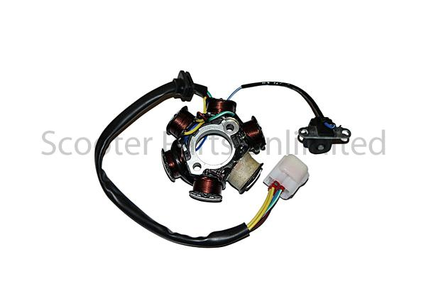Gas Coolster Atv Quad Go Kart 6 Pole Stator Alternator
