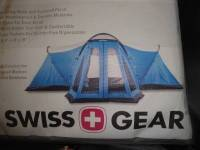 BRAND NEW HUGE SWISS GEAR 10 Man porch Tent 4 ROOMS - 10 ...