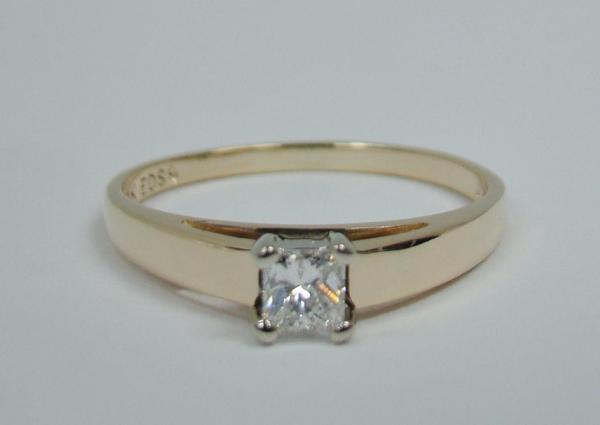 4 Carat Princess Cut Diamond Ring