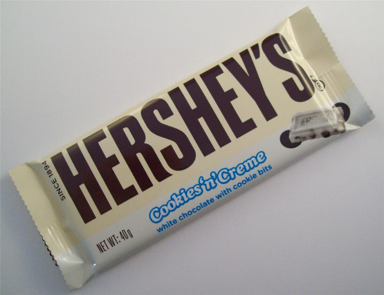 Hershey S Cookies N Cream Bar 40g American White
